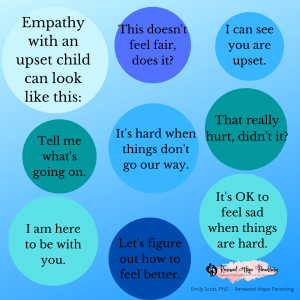 empathy with an upset child can look like this