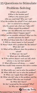 25 Questions to stimulate problem solving