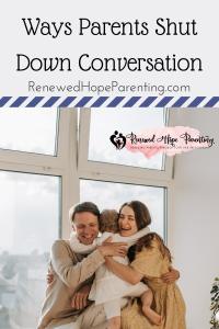 ways parents shut down conversation image